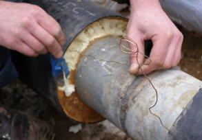 Изоляция стыков труб в ППУ ПЭ изоляции