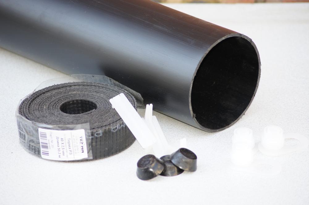 Комплект заделки стыка с термоусаживаемой муфтой для труб в ППУ-ПЭ изоляции